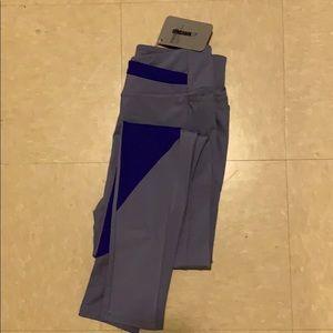 Asymmetric leggings-steel blue/indigo full length